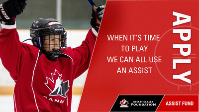When it's time to play we can all use an assist (CNW Group/Hockey Canada Foundation)