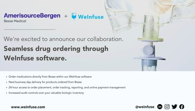 Besse Medical, a part of AmerisourceBergen, is the first to participate in WeInfuse's newly launched Distributor Connect Program.