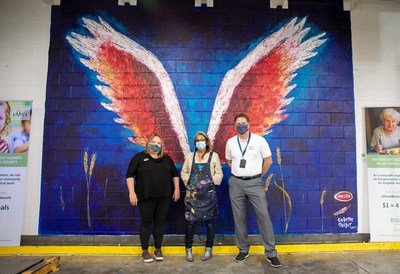 Barilla Commissions Installation Of Global Angel Wings Project Mural By Colette Miller At The Los Angeles Regional Food Bank