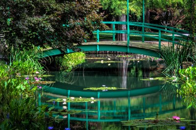 #1 Reflections! Inspired by Claude Monet's Garden at Giverny, Jim Gibbs recreated the Japanese Foot Bridge for his own Water Lily Garden down to the last detail. Photographers are drawn to the breath-taking reflections of the bridge and water lilies in the ponds at Gibbs Gardens. Photo provided by Gibbs Gardens