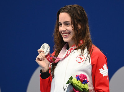 Aurélie Rivard won her fifth medal and first silver of the Tokyo 2020 Paralympic Games on Thursday, in the women's 100m backstroke S10. PHOTO: Scott Grant/Canadian Paralympic Committee (CNW Group/Canadian Paralympic Committee (Sponsorships))