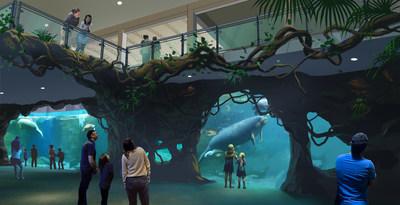 Manatee rehabilitation center concept rendering.