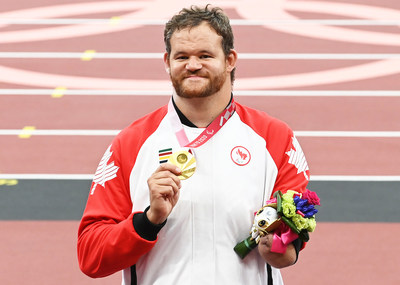 Shot putter Greg Stewart claimed gold for Canada in his first-ever Paralympic appearance. PHOTO: Scott Grant/Canadian Paralympic Committee (CNW Group/Canadian Paralympic Committee (Sponsorships))