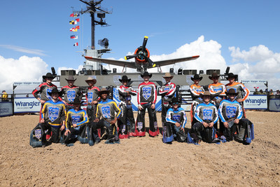Air Force Reserve Cowboys for a Cause charity exhibition in 2020.