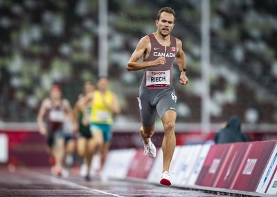 Nate Riech was best in class in the men's T38 1500m, winning gold in Paralympic record time. PHOTO: Dave Holland/Canadian Paralympic Committee (CNW Group/Canadian Paralympic Committee (Sponsorships))